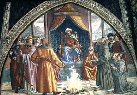The Trial by Fire, St. Francis before the Sultan of Egypt, scene from a cycle of the Life of St. Fra