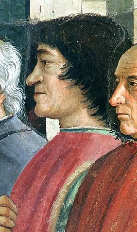 Lorenzo Medici,Detail of St. Francis receiving the Rule of the Order from Pope Honorius, scene from