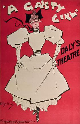 Poster advertising 'A Gaiety Girl' at the Daly's Theatre, Great Britain