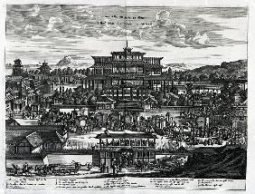 Procession from Macau, an illustration from ''Atlas Chinensis'' by Arnoldus Montanus
