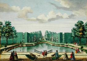 View from the bower over the great lake, from 'Het Zeganplant Kennemerlant', by Hendrick de Leth and