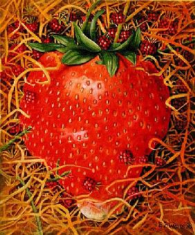 Strawberry in Straw, 1998 (acrylic on canvas)