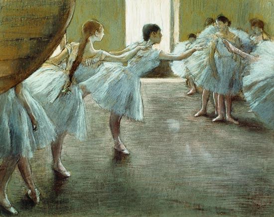Dancers at Rehearsal, - Edgar Degas