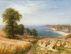 Warren, Edmund George : Harvest time by the Sea (d...