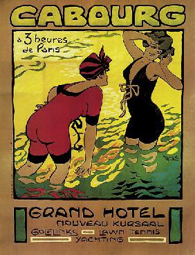 Poster advertising the Grand Hotel, Cabourg