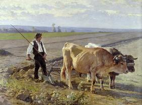 The Furrow, 1897 (oil on canvas)