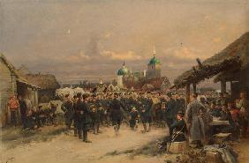 Singers of the Life-Guards 4th The Imperial Family's Rifle Battalion at Tsarskoye Selo