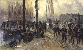 Detaille, Edouard : Ambush near a Bridge Defen...