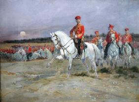 Tsarevich Nicolas (1894-1917) Reviewing the Troops
