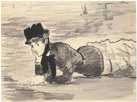 Woman Lying on the Beach. Annabel Lee