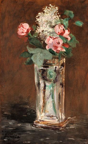 Manet, Edouard : Flowers in a crystal vase