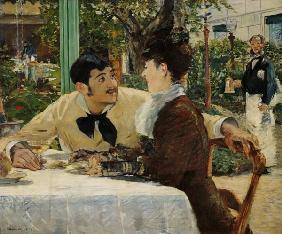 Manet, Edouard : couple chez P�re Lathuille