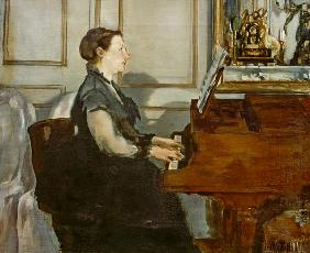 Manet, Edouard : Madame Manet at the Piano
