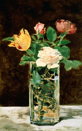 Manet, Edouard : Roses and Tulips in a Vase