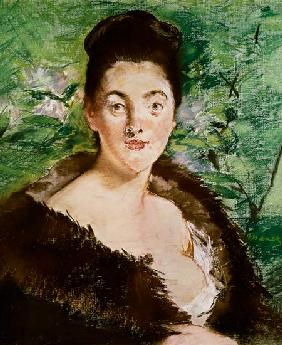 Manet, Edouard : Woman in a fur coat (paste...