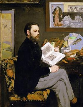 Manet, Edouard : Portrait of Emile Zola (18...
