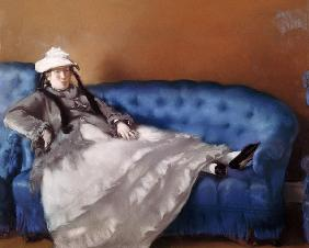 Manet, Edouard : Madame Manet on a Blue Sof...