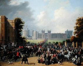 The Arrival of Louis-Philippe (1773-1850) at Windsor Castle, 8th October 1844