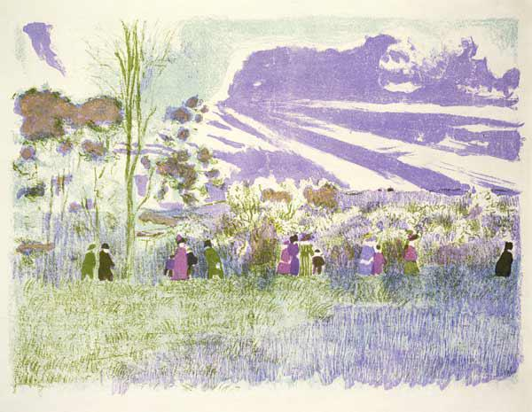 Across the Fields, 1898/99 (colour litho)