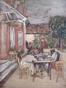 Le Petit Dejeuner (oil on canvas)