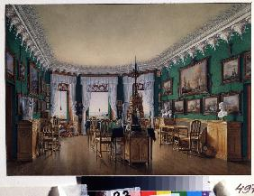 The Study room of Emperor Nicholas I in the Cottage Palace in Peterhof