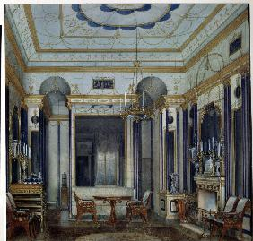 The Drawing Room of the Empress Maria Alexandrovna in the Great palace of Tsarskoye Selo