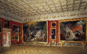 The Russian Painting Hall in the Hermitage in St. Petersburg