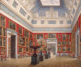 Interiors of the New Hermitage. The Room of Flemish painting