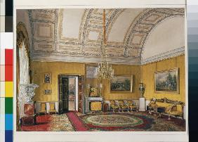 Interiors of the Winter Palace. The First Reserved Apartment. The Yellow Salon of Grand Princess Mar