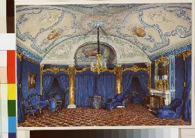 Interiors of the Winter Palace. The Fourth Reserved Apartment. A Bedroom