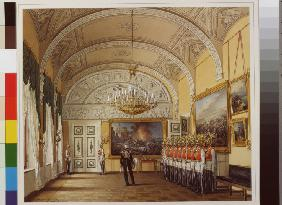 Interiors of the Winter Palace. The Guardroom