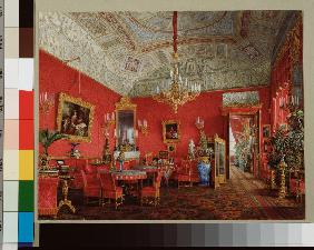Interiors of the Winter Palace. The Large Drawing Room of Empress Alexandra Fyodorovna