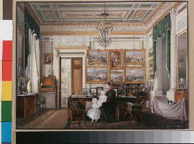 Interiors of the Winter Palace. The Study of Emperor Alexander II