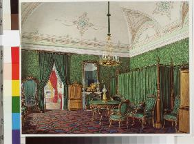 Interiors of the Winter Palace. The Third Reserved Apartment. A Bedroom