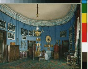 Interiors of the Winter Palace. The Bedroom of Crown Prince Nikolay Aleksandrovich