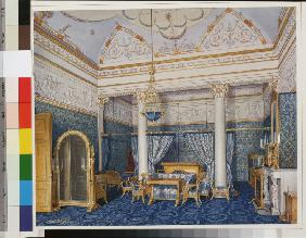 Interiors of the Winter Palace. The Bedchamber of Empress Alexandra Fyodorovna