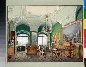 Interiors of the Winter Palace. The Large Study of Emperor Nicholas I