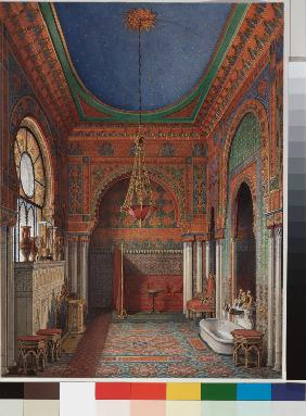 Interiors of the Winter Palace. The Bathroom of Empress Alexandra Fyodorovna