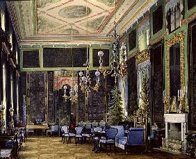 The Chinese Room in the Great Palais in Tsarskoye Selo (w/c, gouache and ink on paper)