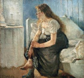 Morning (Girl sitting on bed)