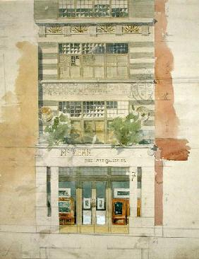 Design for the facade of McLean Fine Art Galleries, Haymarket, London  & pencil on