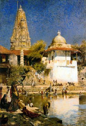Banganga Tank and Walkeshwar Temple at Bombay