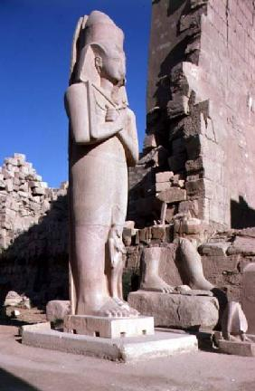 Colossal statue of Ramesses II (1279-1213 BC) in the Great Temple of Amun, New Kingdom