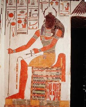 The god, Khepri, from the Tomb of Nefertari, New Kingdom