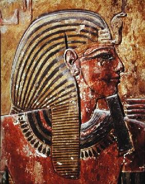 The head of Seti I (r.1294-1279 BC) from the Tomb of Seti, New Kingdom