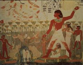 Hunting and Fishing, from the Tomb of Nakht, New Kingdom