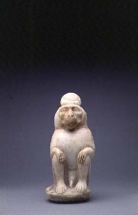 Marble figure of the Baboon of the God Toth