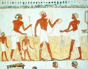 Measuring the land using rope, from the Tomb Chapel of Menna, New Kingdom