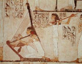 Two Musicians, from the Tomb of Rekhmire, New Kingdom
