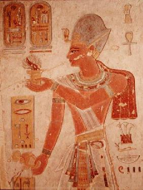 Ramesses III (c.1184-1153 BC) in battle dress, from the Tomb of Ramesses III, New Kingdom